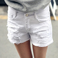 Plus Size 6XL White Denim Shorts Women 2017 Summer Fashion Black Ripped Jeans Shorts Hole Tassel Femme Shorts 26-40 Top Quality
