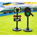 D1052 Free shipping Thomas electric light rail train scene Manually change light traffic light groups Children's toys