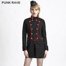 Military style wool coat Punk Rave 2017 New Winter womens Gothic KERA JACKET