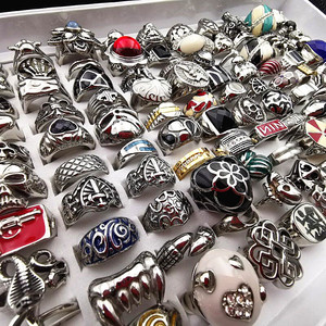 Image 5 - MixMax 20pcs Top Fashion Titanium steel casting ring personality stainless steel rings for Men Women Jewelry