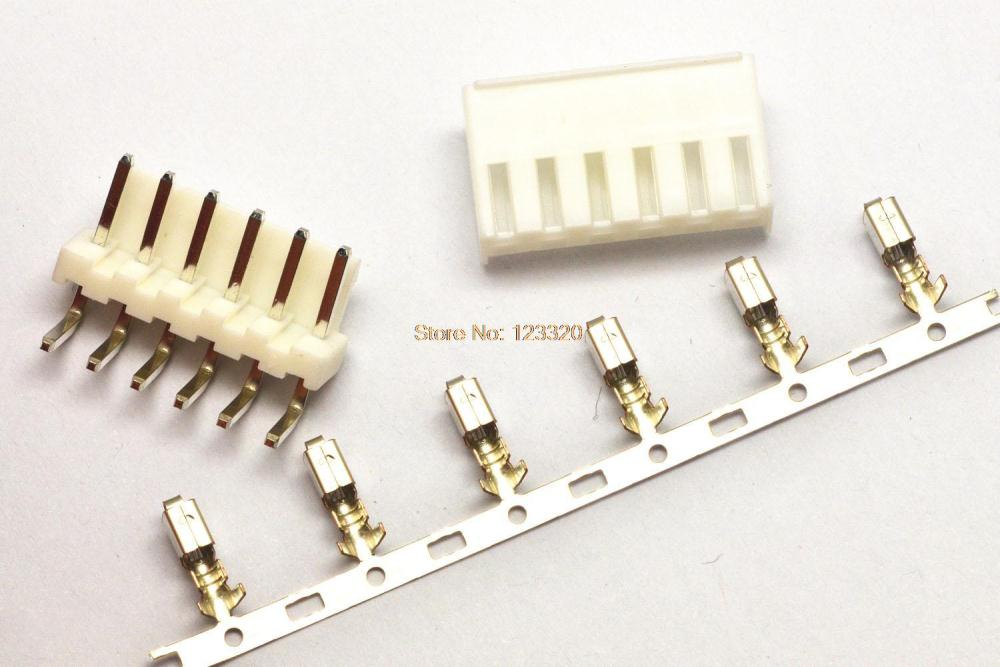 50sets/lot VH Connector 6Pin,Pitch:3.96MM, Side Entry Type Locking Header + Terminal + Housing, VH3.96-6P