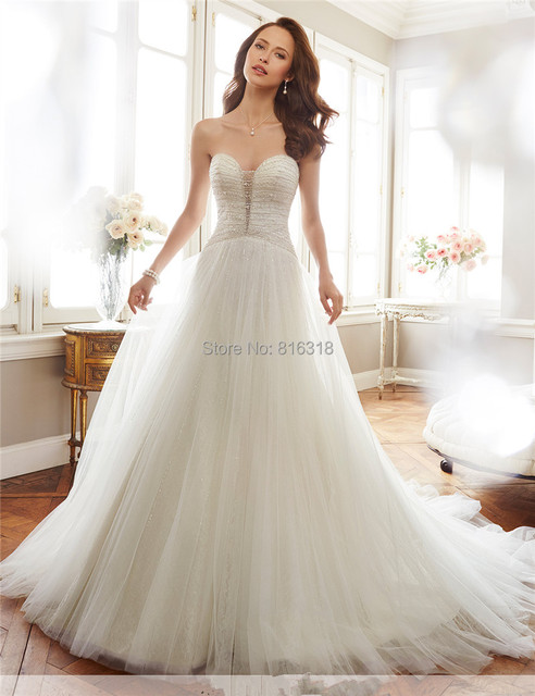 Bling Bridal Gowns Sweetheart Sparkly Bridal Dress Long Rhinestone ...