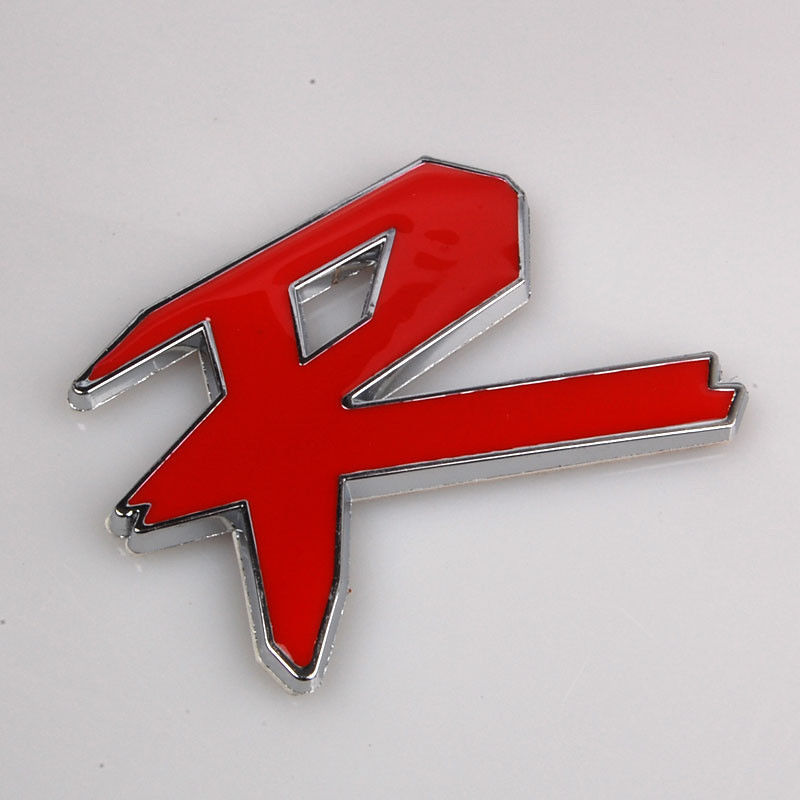 Auto Red R Motor Car Trunk Chrome Badge Emblem Sticker Car Side Truck Rear Car Stickers Car styling car styling for mercedes benz g series w460 w461 w463 g230 g300 g350 chrome number letters rear trunk emblem badge sticker