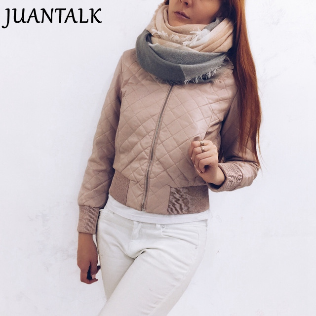 JUANTALK Fashion Autumn Winter Women Short O-neck Thick Zipper Warm Faux   Leather   Jacket Motorcycle Thicken PU Jackets Coat