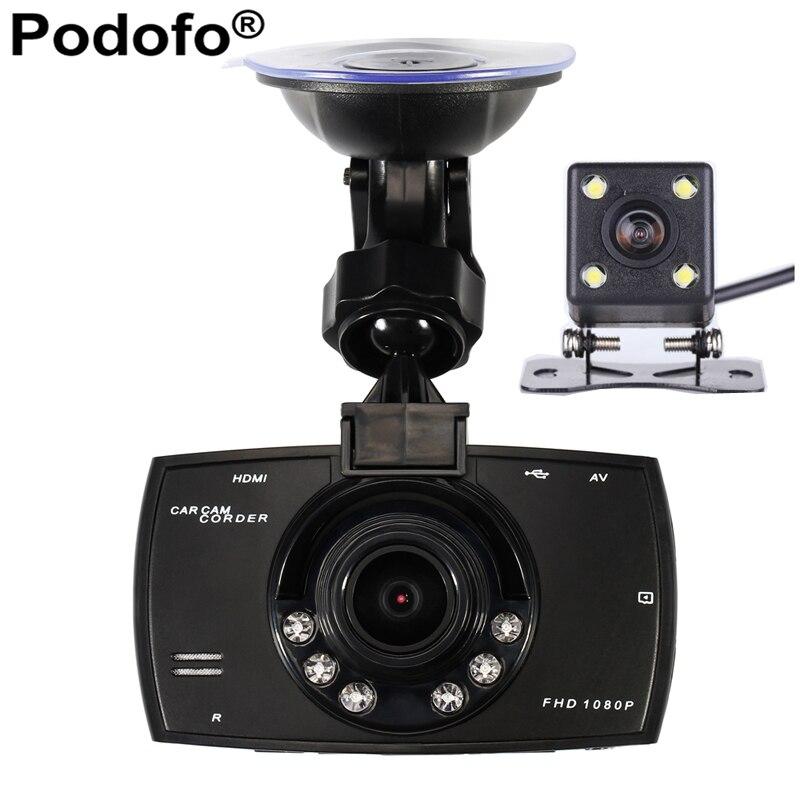 Car Camera Dual Lens 1080P Video Recorder Car DVRs Registrator With WDR Rear Back Car Camera