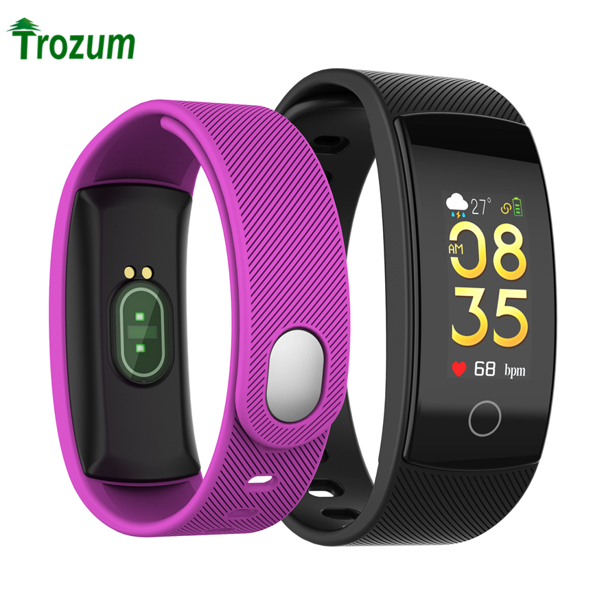 QS80plus Farbe Smart Armband Blutdruck Herz Rate Monitor Fitness Tracker Wasserdicht Smart Armband Band Für Android ios