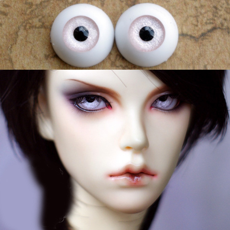 Bjd Eyes for BJD Dolls toys eyeball for 1/3  1/4 1/6 SD Dolls 16mm 18mm 20mm 22mm Acrylic light pink EYEs for toy kid doll uncle 1 3 1 4 1 6 doll accessories for bjd sd bjd eyelashes for doll 1 pair tx 03