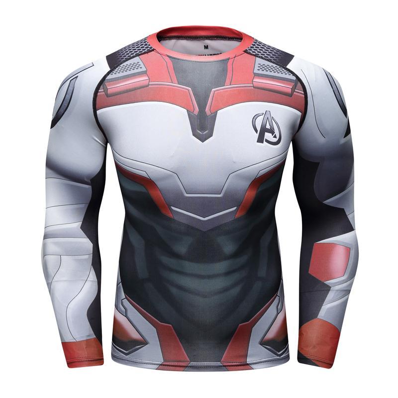 Marvel The Avengers 4 Endgame Quantum War 3D imprimé t-shirts hommes chemise de Compression homme Cosplay Costume à manches longues hauts t-shirt