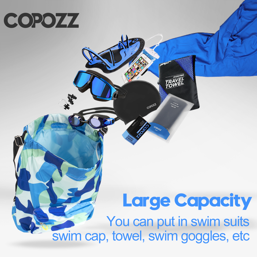 Copozz Large Capacity Wet Dry Seperation Bag Outdoor Waterproof Sport Floating Camping Work Out Backpack Swimming Dry Bags