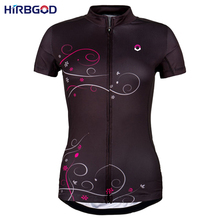 HIRBGOD black and purple 2 colors bike shirt women summer quick-dry cycling jersey mtb wear short sleeve ciclista clothing,NM499