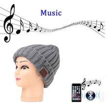 Зимняя Шапка-бини с Bluetooth, гарнитура со встроенным микрофоном V4.2, беспроводная стереоколонка и музыкальные наушники для телефона, наушники