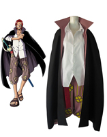 Free shipping Anime ONE PIECE Cosplay Shanks Two years ago Man Woman Cosplay Costume cloak+shirt+pants