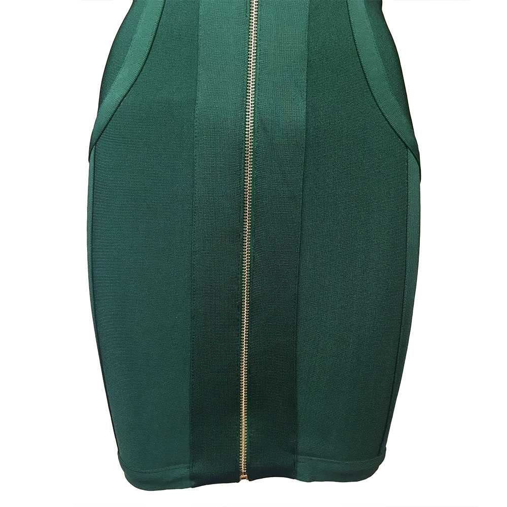 Manches Chaude Vert Zipper Celebrity Femmes Mode Robes Profonde Bandage Longues Parti Avant 2018 Mini Robe Moulante Vente Nouveau V wdUvAPXqdx