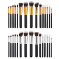 15PCS Pro Foundation Powder Makeup Brush Kits Contour Eyeshadow Blush Crease Concealer Blending Buffing Cosmetic Brushes Set