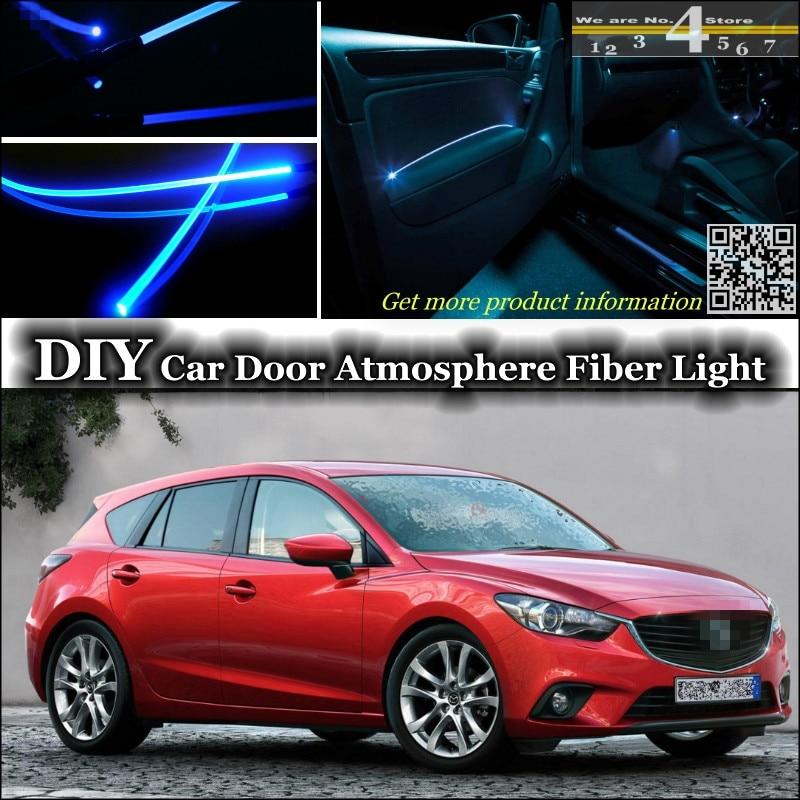 Ambiente interno Tuning Luce Atmosfera In Fibra Ottica Fascia Luci Per Mazda 3 Mazda3 M3 Axela BK BL BM Pannello Porta illuminazione