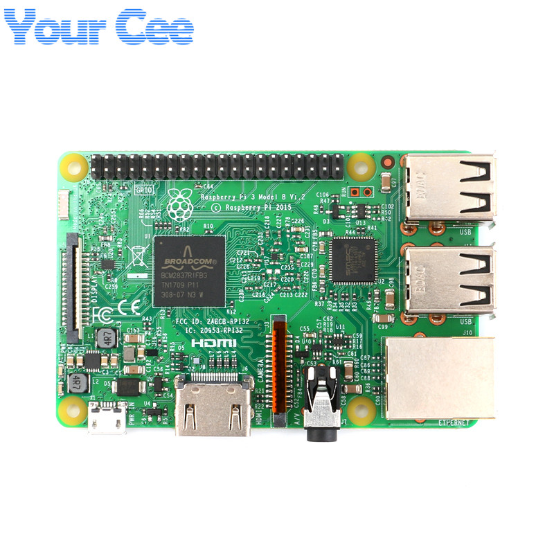 Original Raspberry Pi 3 Model B 1GB LPDDR2 BCM2837 Quad-Core...