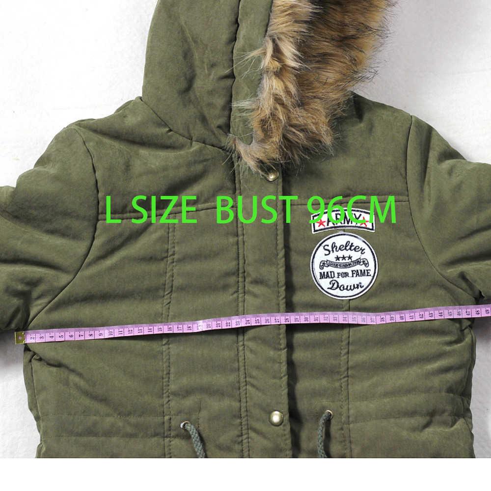 Fitaylor Winterjas Vrouwen Dikke Warm Hooded Parka Mujer Katoen Gewatteerde Jas Lange Paragraaf Plus Size 3xl Slanke Jas Vrouwelijke