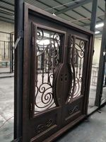 Hand Made Custom Design Forged Iron Wrought Iron Doors For Sale Wid 4