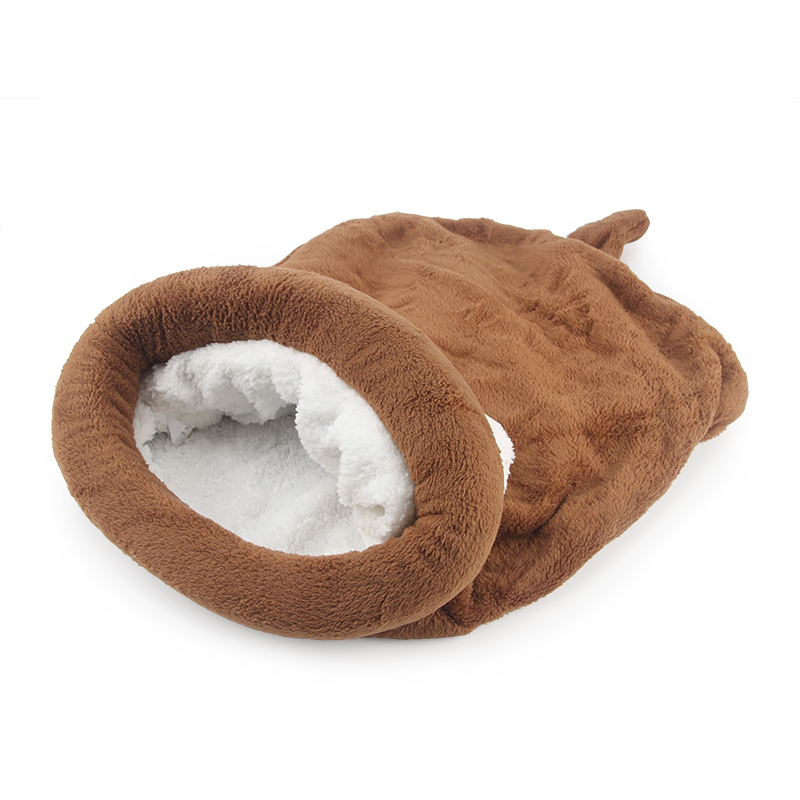 Cute Cat Sleeping Bag Winter Warm Cat Bed Small Dog House For Small Animals Soft Rabbit Nest Cushion Pet Sleep Bag #5