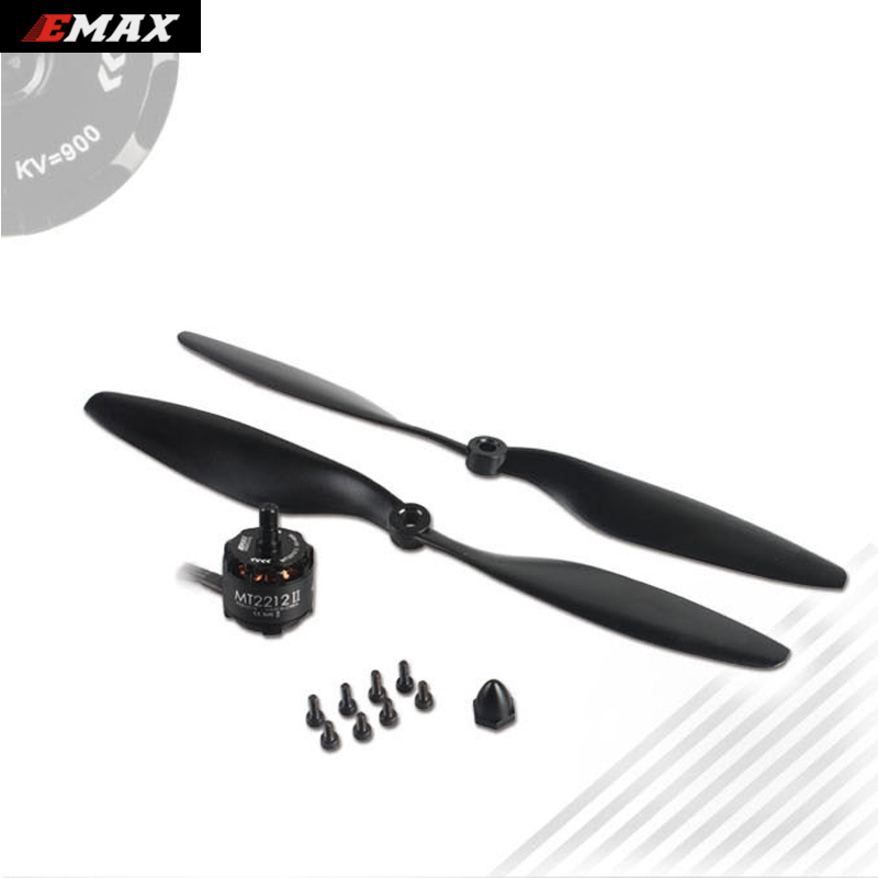 1set Original EMAX Cooling MT2212 II 900KV CW or CCW Brushless Motor with 1045 Propeller for RC Multicopter emax cooling new mt2206 ii 1500kv brushless motor cw
