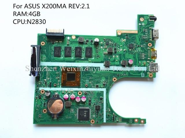 Para asus x200ma laptop motherboard 4g ram, n2830 100% testado