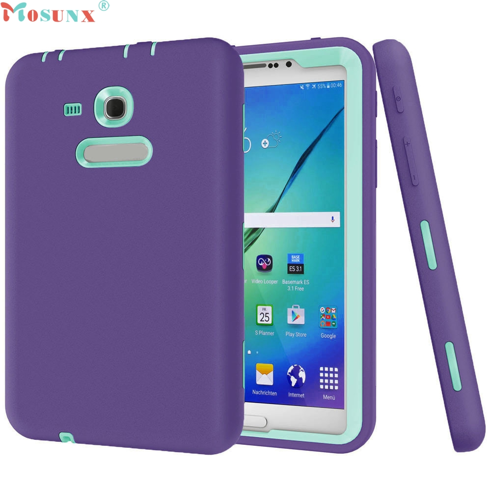 Mosunx Simplestone Shockproof Protective Case Cover For Samsung Galaxy Tab E Lite 7.0 SM-T113 Defender 0222 metal ring holder combo phone bag luxury shockproof case for samsung galaxy note 8