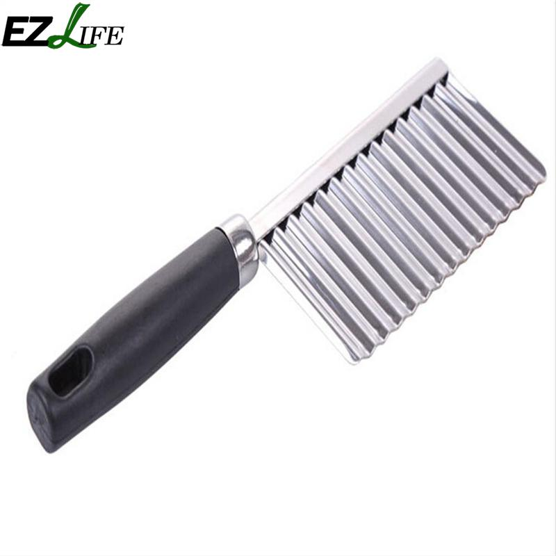 Stainless Steel Wavy Edged Kitchen Knife Cutter For Potato Vegetable Fruit Cutting Peeler Cooking Fruit Wavy Knife LPT4138
