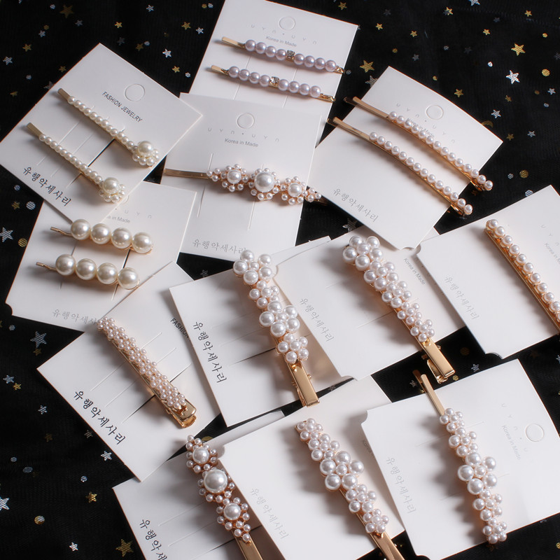 Fashion Women Girls Pearl Metal Hair Clip Barrette Stick Hairpin Bobby Jewelry Styling Tools Hair Accessories in Hair Clips Pins from Beauty Health