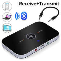 2 in 1 Wireless B6 4.0 Adapter Bluetooth Transmitter Receiver APTX 3.5mm AUX Adapter Player For TV Smartphone PC Home Stereo