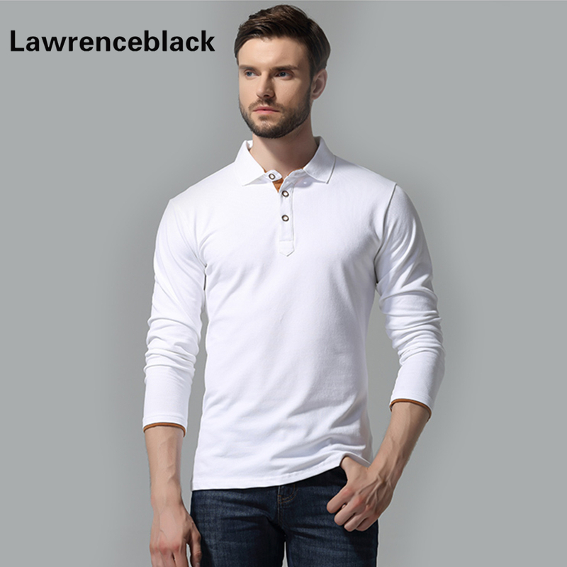 Long Sleeve Polos Male Famous Brand Casual Polo Homme Trend Breathable Casual Camiseta Slim Fit Solid Polo Shirts For Men 282