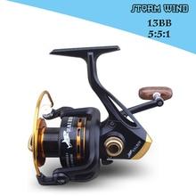 Gapless metal head spinning reel fishing reel 2000-5000 13BB 5.5:1 spinning reel casting fishing reel lure tackle line HW262