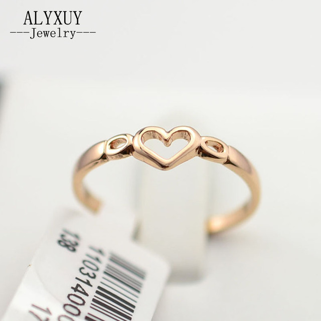 New fashion jewelry gold color heart finger ring for women ladie's wholesale  R710