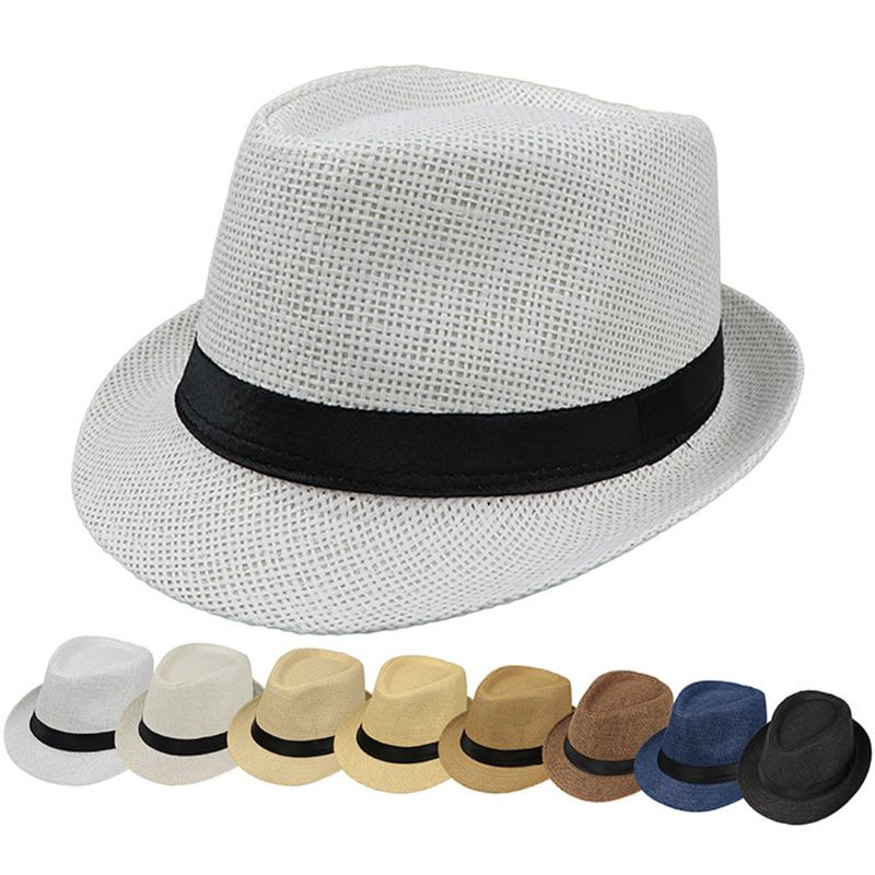 Hats Fedora-Hat Gangster-Cap Trilby Jazz Sunhat Panama Boys Kids Girls Breathable Children