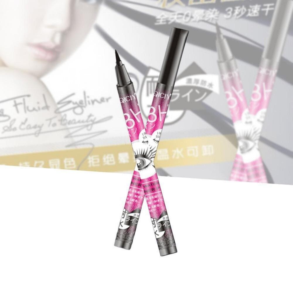 1 Pcs QICIY Black Long Lasting Eye Liner Pencil Super Waterproof Eyeliner Cosmetic Beauty Makeup Liquid Eyeliner Pen Red
