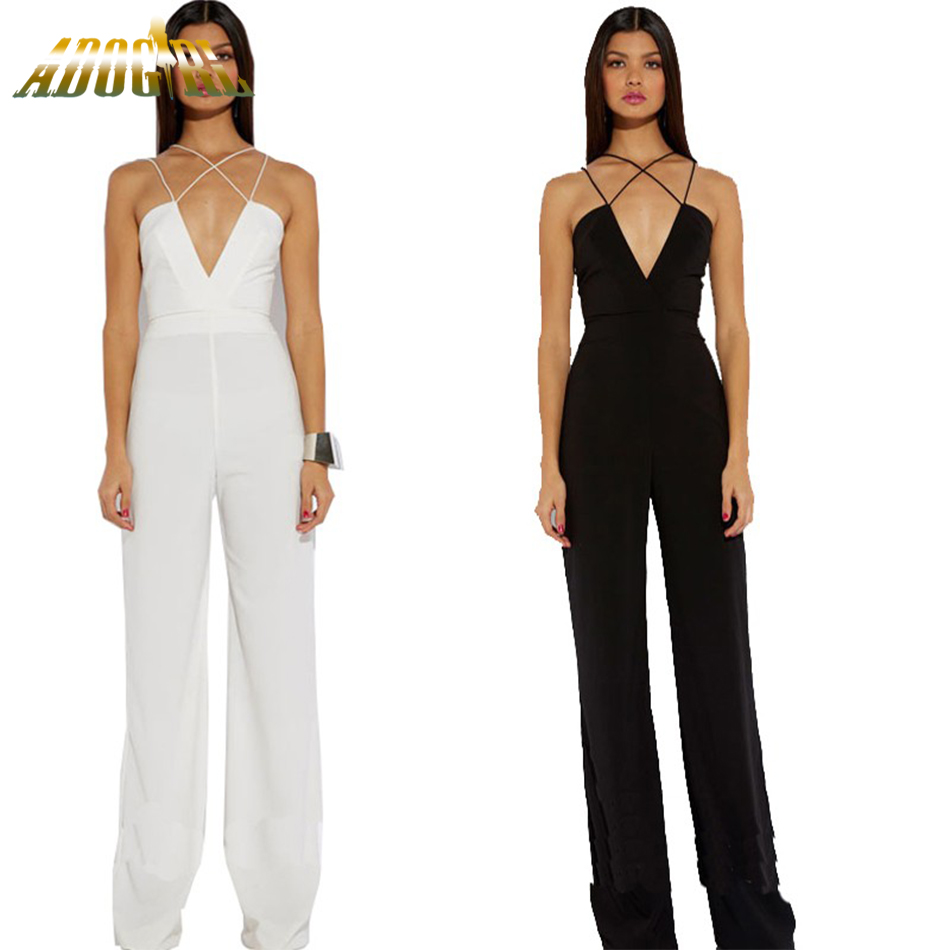 Fantastic  Gt RompersampJumpsuit Gt Women Stylish Vneck Black Jumpsuit Long P