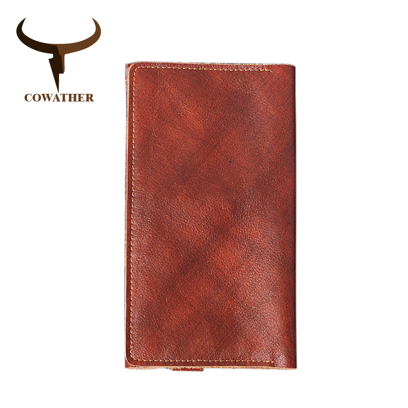 COWATHER New Arrival Top Cow Genuine Leather Multifunctional Long Wallet for Men Fashion Top Quality Men's Wallets Male Purse cowather 2017 new men wallet cow genuine leather for men top quality male purse long carteira masculina free shipping r 8122q