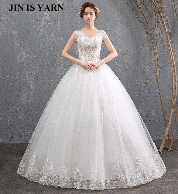 07fed4e26de02 ZJ9076 balle bretelles Spaghetti ivoire blanc tulle robes de mariée 2018  avec perles robe de mariée