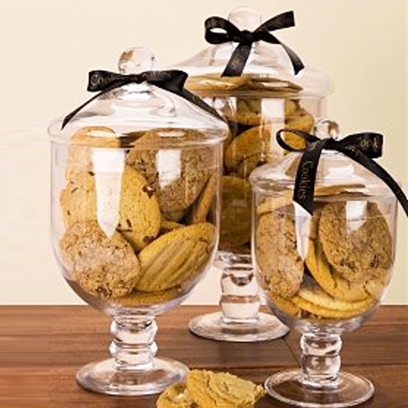 Completely new A glass jar with lid decoration glass candy jars of transparent  DQ99