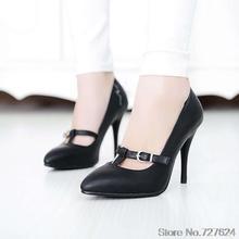 ปั๊มผู้หญิงรองเท้าหนังPUใหม่33 43 42 40ส้นสูง10เซนติเมตรส้นเท้าบางรองเท้าผู้หญิงกับรองเท้าส้นหลาขนาดเล็กหลาขนาดเล็กขนาดEUR 32-44