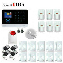 SmartYIBA Russian Spanish French Italian Voice Wireless GSM Alarm System Home Wifi Security Alarm System Kit