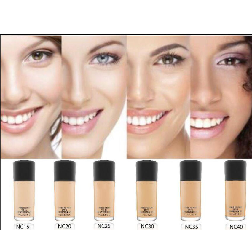 Face Makeup Fluid Foundation Make Up 30ml SPF 15 and Pump luxry 6 Color Choose Cosmetics tint du soleil whipped foundation spf 30 light by colorescience for women 1 oz foundation