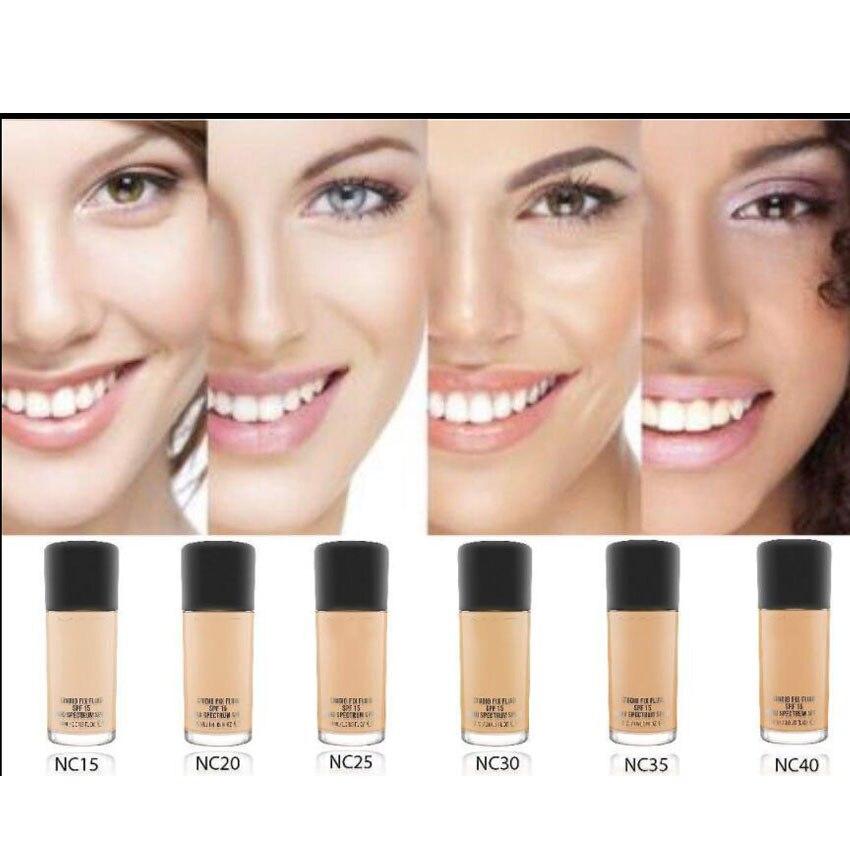 Gesicht Make-Up Fluid Foundation Make-Up 30 ml SPF 15 und Pumpe luxry 6 Farbe Wählen Kosmetik