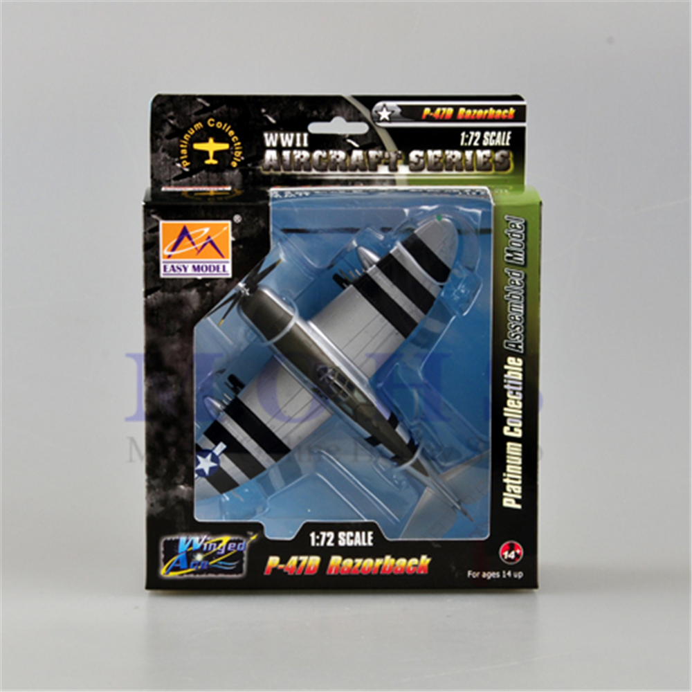 EASY MODEL 36421 1/72 Assembled Model Scale P 47D  Finished Model Airplane Scale Aircraft Warbird RAZERBACK P 47 P47D