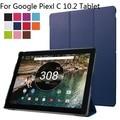 """Caso de la alta calidad elegante de la Nueva llegada caso de la cubierta de cuero ultra soporte delgada de LA PU funda protectora para Google Pixel C 10.2 """"tablet"""