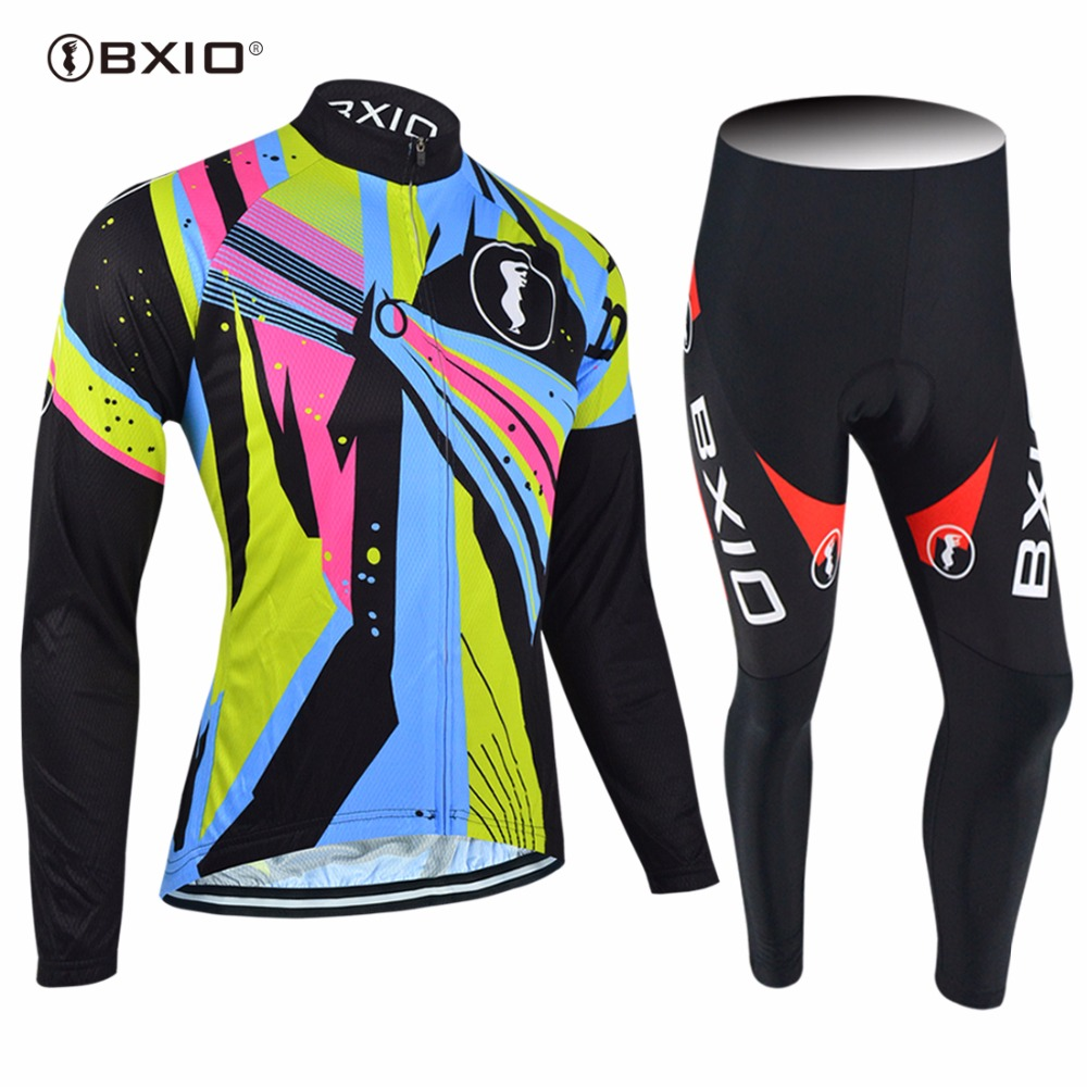 2017 New Arrival BXIO Cycling Sets OEM Bike Jerseys Long Sleeve Pro Team Bicycle Clothes Roupa Ciclismo MTB Cycle Jersey 054 2016 new men s cycling jerseys top sleeve blue and white waves bicycle shirt white bike top breathable cycling top ilpaladin