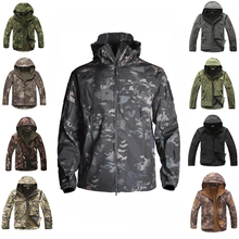 TAD Outdoor Sport Waterproof Softshell Camouflage Jacket Tactical Hunting Clothes Men's Winter Windproof Sports Jackets 11 Color недорого