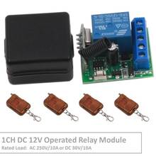 Wireless Remote Control Switch DC 12V Operated 1CH rf 433Mhz Relay Receiver & 500m Transmitter for Remote Garden and Led Switch 1 pc dc 12v 10a relay 1ch wireless rf remote control switch transmitter receiver 315mhz 433mhz