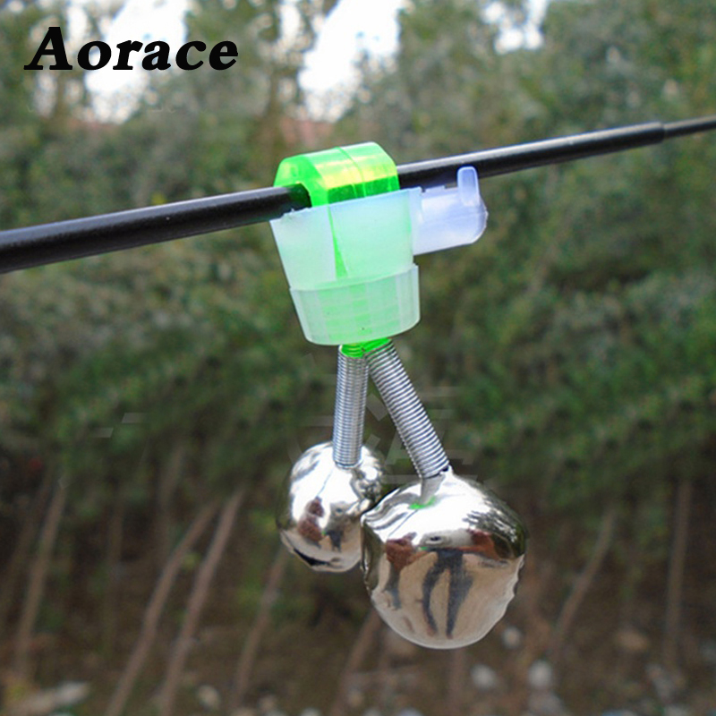 5Pcs Fishing Bell Bite Alarms Fishing Rod Clamp Tip Clip Bells Ring Carp Fishing Accessories Tackle Fish Alarm