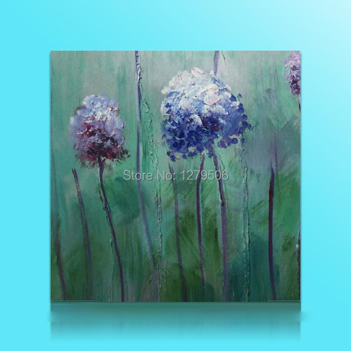 Hand Painted Modern Home Decor Art Abstract Violet Flower Oil Painting On Canvas Hot Sell Paintings On The Wall