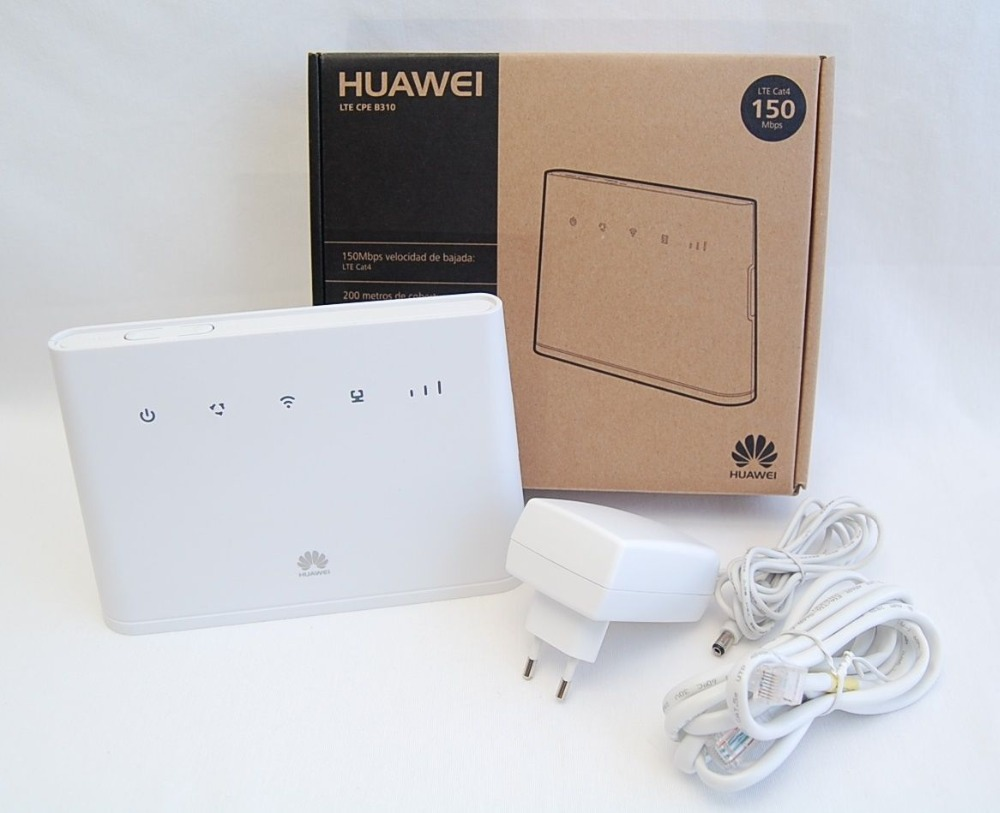 White Huawei B310S-22 High Speed LTE Cat4 150Mbps 4G Wireless Gateway  +a pair antenna маршрутизатор lte huawei b310s 22